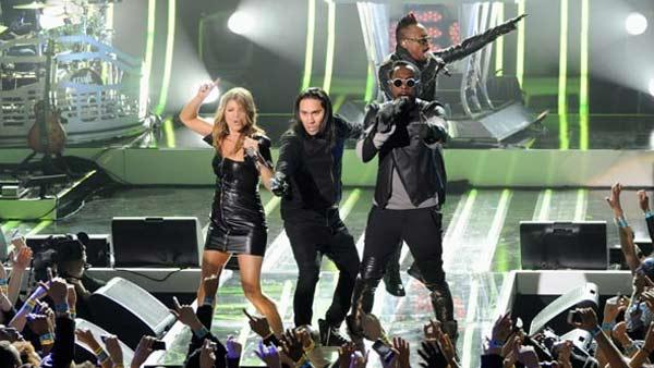 The Black Eyed Peas perform at the MTV World Stage in New York City on April 18, 2011 to celebrate the arrival of the 21st Century Beetle. - Provided courtesy of Scott Gries / PictureGroup