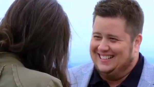 Chaz Bono and Jennifer Elia appear in a still from the OWN documentary, 'Being Chaz.'