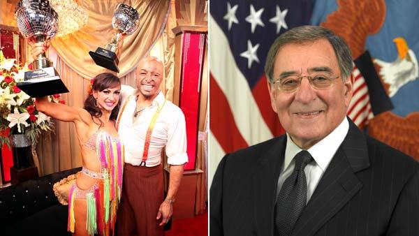 J.R. Martinez talks to OnTheRedCarpet.com after the Dancing With The Stars season 13 finale on Tuesday, November 22 / Defense Secretary Leon Panetta in a file photo from the official website of the U.S. Department of Defense. - Provided courtesy of ABC / defense.gov