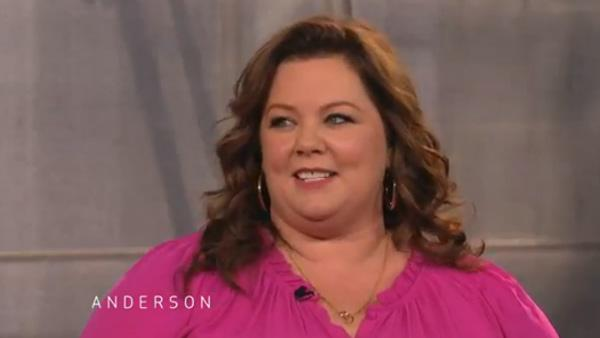 Melissa McCarthy appears on Anderson Coopers daytime series Anderson in an episode that aired on Nov. 28, 2011. - Provided courtesy of Telepictures Productions / Warner Bros. Domestic Television Distribution