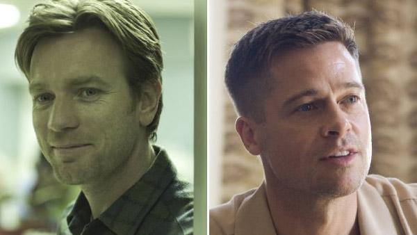 Ewan McGregor appears in a scene from Beginners./Brad Pitt appears in a scene from The Tree of Life. - Provided courtesy of Focus Features/Fox Searchlight Pictures