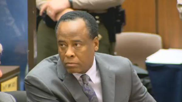 Dr. Conrad Murray appears at his sentencing for involuntary manslaughter in the death of Michael Jackson on Tuesday, Nov. 29, 2011. - Provided courtesy of OTRC