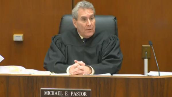 Judge Michael Pastor appears at the sentencing of Dr. Conrad Murray at Los Angeles Superior Court on Nov. 29, 2011. Murray was on November 7 convicted of involuntary manslaughter in the death of Michael Jackson.
