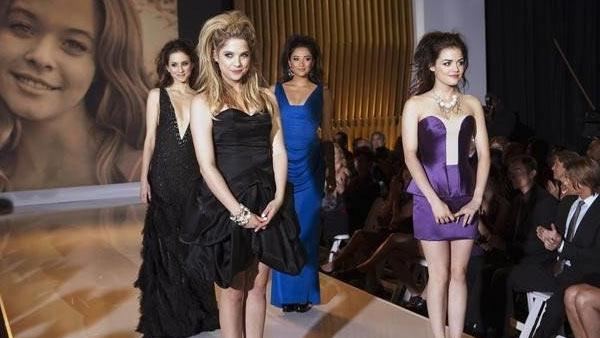 Hannah (Ashley Benson), Aria (Lucy Hale), Emily (Shay Mitchell) and Spencer (Troian Bellisario) appear in the Pretty Little Liars episode Never Letting Go. - Provided courtesy of ABC