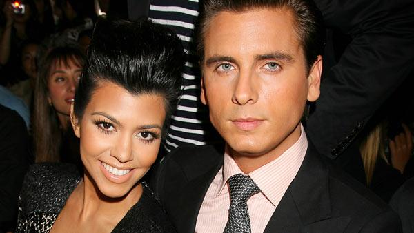 In this photo released by Starpix, reality television star Kourtney Kardashian and Scott Disick attend the showing of the Jill Stuart spring 2011 collection during Mercedes-Benz fashion week in New York, Saturday, Sept. 11, 2010.
