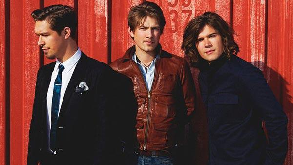 Taylor, Isaac and Zac Hanson appear in a photo posted on their bands official Facebook page on April 7, 2010. - Provided courtesy of Facebook.com/HansonMusic