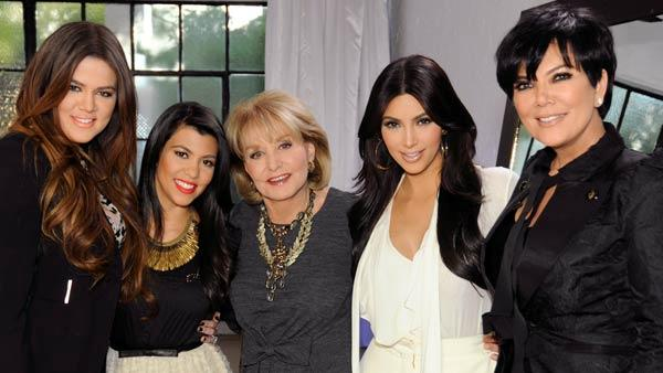 Barbara Walters appears with Khloe, Kim and Kourtney Kardashian as well as Kris Jenner for her 10 Most Fascinating People of 2011 special. - Provided courtesy of ABC