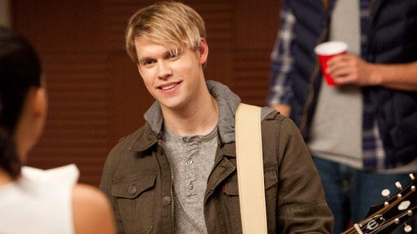 Chord Overstreet appears in a still from the December 6 episode of Glee. - Provided courtesy of Adam Rose/FOX