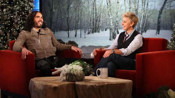 Russell Brand appears on the December 2, 2011 episode of The Ellen DeGeneres Show. - Provided courtesy of WB Television