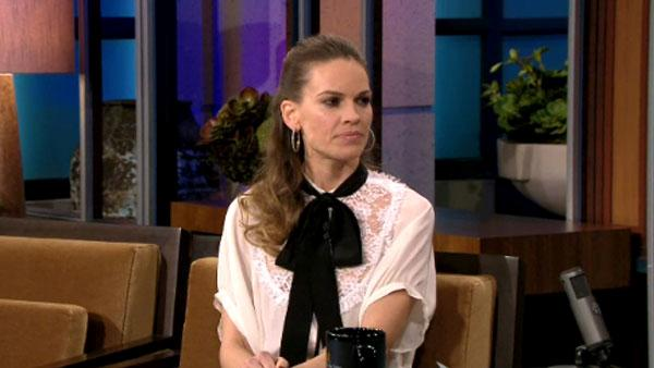 Hilary Swank appears in an interview on the December 2, 2011 episode of The Tonight Show. - Provided courtesy of NBC
