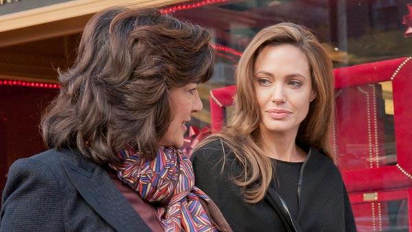Angelina Jolie appears in a promotional photo for her Nightline interview with Christianne Amanpor to air on Dec. 5, 2011. - Provided courtesy of ABC