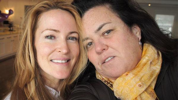 Rosie O'Donnell and Michelle Rounds appear in a photo posted on the actress' Twitter page on December 2, 2011.