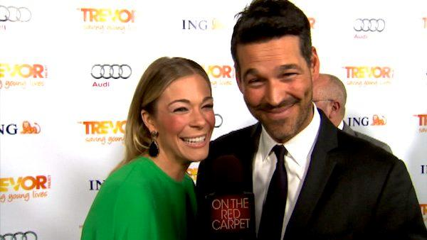 LeAnn Rimes and Eddie Cibrian talk to OnTheRedCarpet.com at the Trevor Projects Trevor Live fundraising event on Sunday, December 4, 2011.