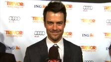 Josh Duhamel talks to OnTheRedCarpet.com at the Trevor Projects Trevor Live fundraising event on Sunday, December 4, 2011. - Provided courtesy of OTRC
