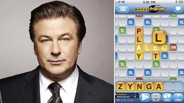 Alec Baldwin appears in promotional still from the 30 Rock. / A Words With Friends screen grab provided by Zynga. - Provided courtesy of NBC / Zynga