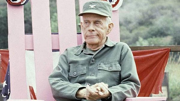 Harry Morgan is shown on the set of M*A*S*H* in Los Angeles, Sept. 19, 1982. - Provided courtesy of AP / Wally Fong