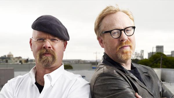 Jamie Hyneman and Adam Savage appear in a promotional photo for 'MythBusters.'