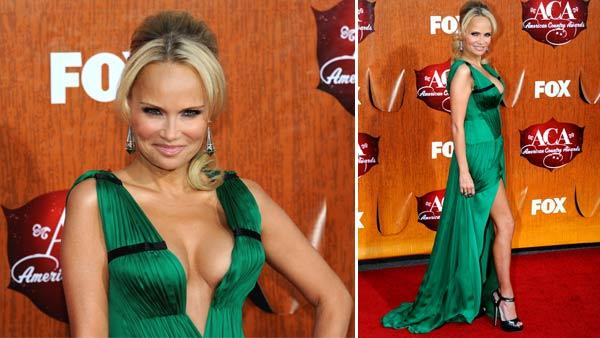 In this photo provided by the Las Vegas News Bureau, Kristin Chenoweth arrives at the American Country Awards Monday, Dec. 5, 2011, in Las Vegas. - Provided courtesy of AP / AP Photo/Las Vegas News Bureau, Glenn Pinkerton