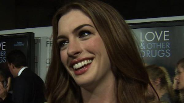 Anne Hathaway talks to OnTheRedCarpet.com about buying fluorescent bras for her 'Love and Other Drugs' character.
