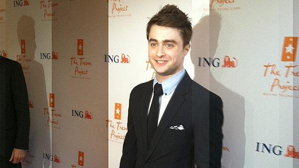 Daniel Radcliffe arrives at the 2011 Trevor Live! ceremony in New York on June 27, 2011.