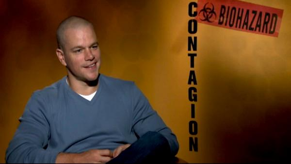 Matt Damon talks to OnTheRedCarpet.com in a press junkett interview for 'Contagion.'