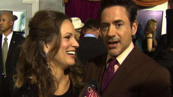 Robert Downey Jr. and his wife Susan talk to OnTheRedCarpet.com at the premiere of Sherlock Holmes: A Game of Shadows on Dec. 6, 2011. - Provided courtesy of OTRC