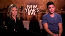 Zac Efron and Michelle Pfieffer talk to OnTheRedCarpet.com in a press junket for New Years Eve. - Provided courtesy of OTRC