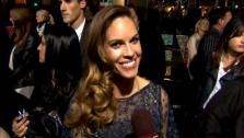 Hilary Swank talks to OnTheRedCarpet.com at the Hollywood premiere of New Years Eve. - Provided courtesy of OTRC