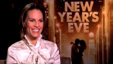 Hilary Swank talks to OnTheRedCarpet.com in a press junket for New Years Eve. - Provided courtesy of OTRC