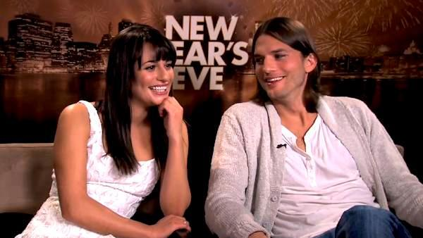 Lea Michele and Ashton Kutcher compare TV gigs