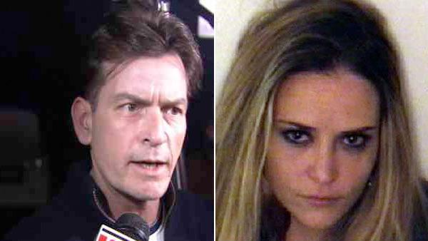 Charlie Sheen talks to OnTheRedCarpet.com in March 2011. / Brooke Muellers December 3, 2011 mugshot, courtesy of the Aspen Police Department. - Provided courtesy of OTRC