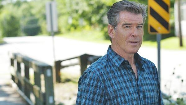 Pierce Brosnan appears in a scene from the 2011 miniseries Bag of Bones. - Provided courtesy of A&E