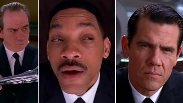 Josh Brolin, Will Smith and Tommy Lee Jones appear in scenes from the 2012 film Men in Black III. - Provided courtesy of Sony Pictures