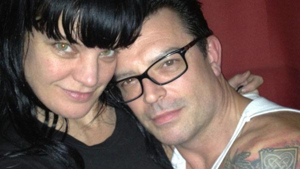 Pauley Perrette and Thomas Arklie appear in a photo posted on the actress' official Twitter account on November 19, 2011.