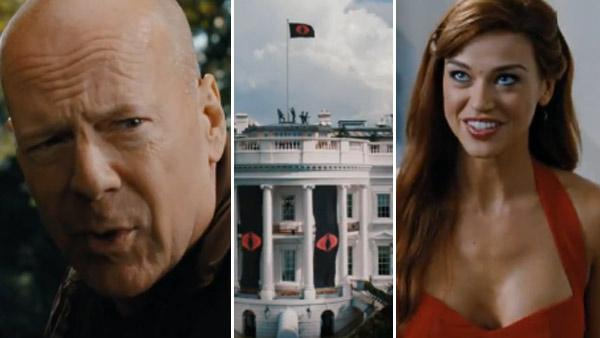 Bruce Willis and Adrianne Palicki appear in scenes from the 2012 film G.I. Joe: Retaliation. - Provided courtesy of Paramount Pictures