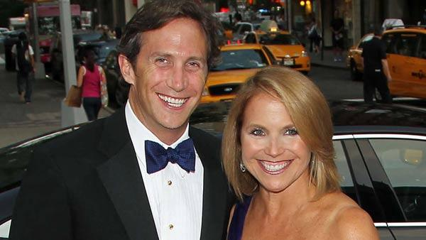 Brooks Perlin, left, and Katie Couric arrive for the Metropolitan Opera Opening Night Gala at Lincoln Center sponsored by Manhattan Jaguar on Sept. 26, 2011 in New York.