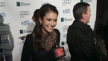 Nina Dobrev of The Vampire Diaries talks to OnTheRedCarpet.com about The Water Project on Dec. 10, 2011. - Provided courtesy of none / OTRC