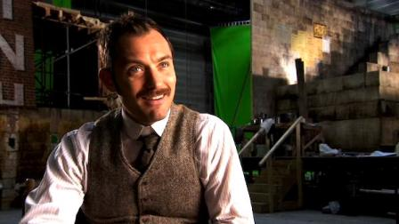 Jude Law talks Sherlock Holmes: A Game of Shadows in this promotional video provided by Warner Bros. Pictures in December 2011.