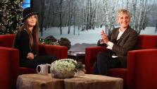 Paris Jackson and Ellen DeGeneres appear on The Ellen DeGeneres Show, to air on Thursday, December 15, 2011. - Provided courtesy of Michael Rozman / Warner Bros.