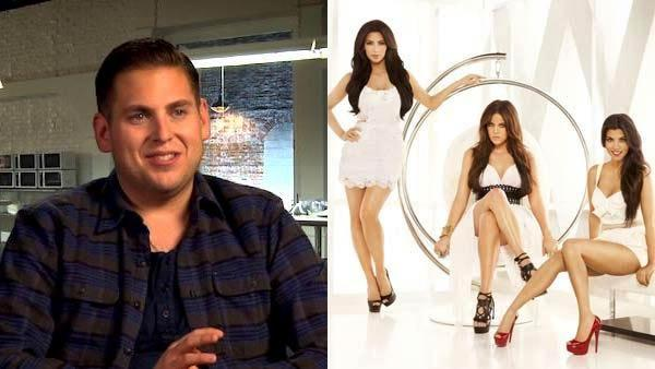 Jonah Hill talks about The Sitter in an interview provided by the studio. / Kim, Khloe and Kourtney Kardashian seen in a promotional photo for her Keeping Up With The Kardashians series. - Provided courtesy of Twentieth Century Fox Film Corporation / E!
