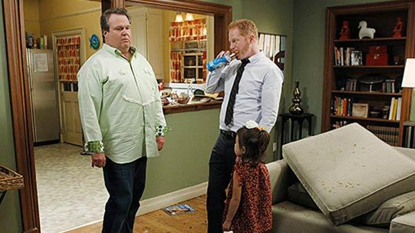Eric Stonestreet and Jesse Tyler Ferguson appear in a scene from the ABC show 'Modern Family.'