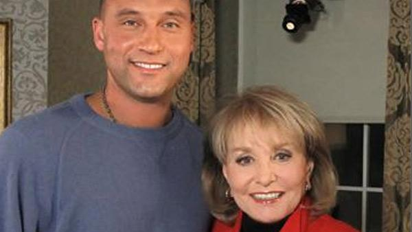Barbara Walters appears with Derek Jeter in a 2011 photo.