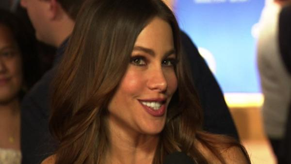 Sofia Vergara talks to OnTheRedCarpet.com after announcing the nominations for the 2012 Golden Globe Awards on Dec. 15, 2011.