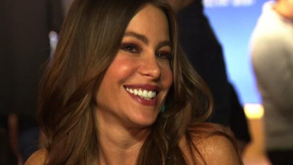Sofia Vergara talks to OnTheRedCarpet.com after announcing the nominations for the 2012 Golden Globe Awards on Dec. 15, 2011. - Provided courtesy of OTRC