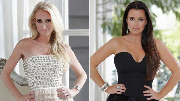 Kim Richards and Kyle Richards appear in a 2011 promotional photo for The Real Housewives of Beverly Hills. - Provided courtesy of Bravo