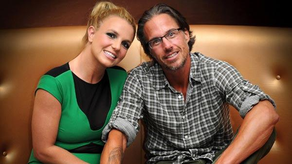 Britney Spears and Jason Trawick appear in a photo posted on the pop singer's official Twitter account on September 17, 2011.
