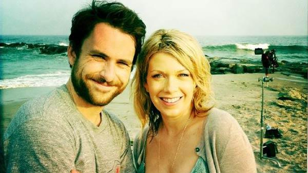 Charlie Day and Mary Elizabeth Ellis appear in a photo posted on Ellis' official Twitter page on June 29, 2011.