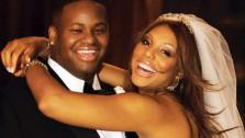 Tamar Braxton appears with her husband Vince Herbert in a photo from their 2008 wedding. - Provided courtesy of WE tv
