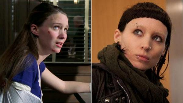 Rooney Mara appears in a scene from the U.S. remake of 'The Girl With The Dragon Tattoo.' / Rooney Mara appears in an episode of 'Law & Order: SVU' in 2006.