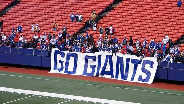 A photo of New York Giants fans from February 2008 in New Jersey.